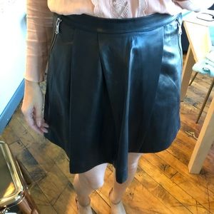 Marc Jacobs black leather skirt